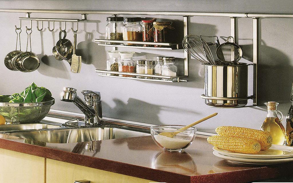 Рейлинги для кухни и декор