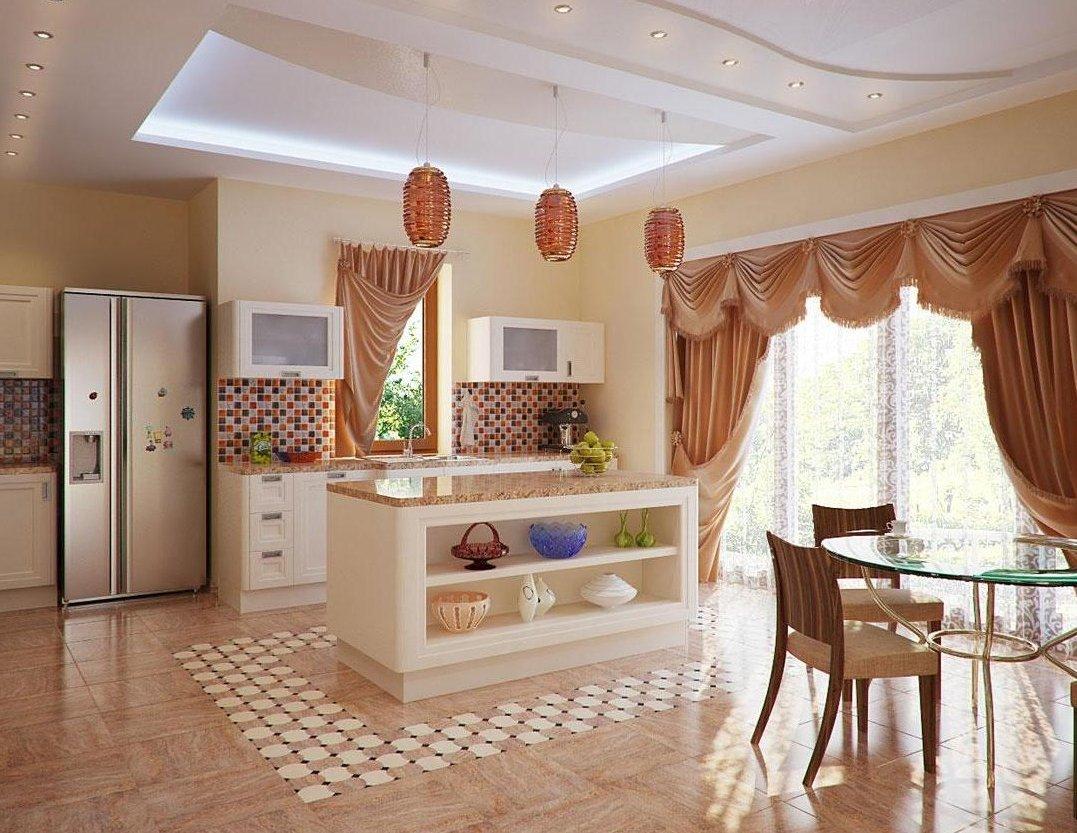 Дизайн кухни частного дома