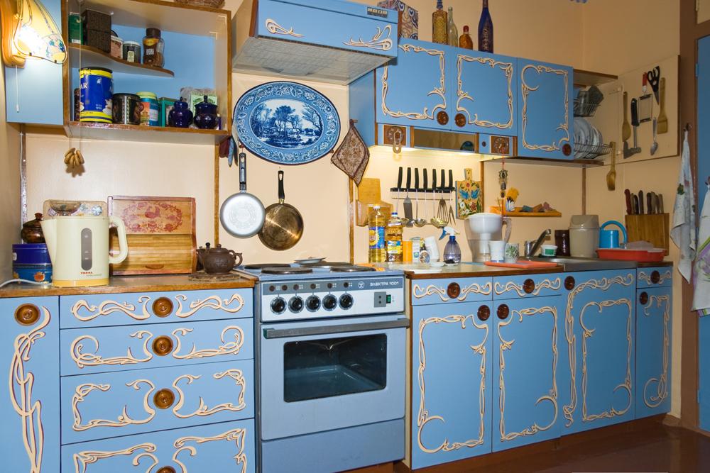 Деревянная кухня как обновить своими руками 261