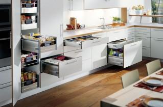 Виды и наполнение кухонных шкафов