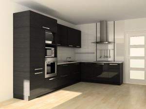 Расположение кухонного пенала