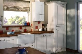 Как удачно расположить в кухне котел отопления?