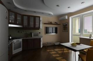 Двухуровневый потолок на кухне – стильно и актуально