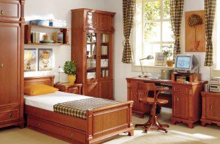 Різноманітні меблі з дерева для спальні