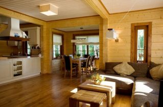 Дизайн інтер'єру дерев'яного будинку з профільованого бруса