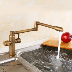 Складная-Кухня-Краны-Бронза-Двойной-Ручкой-Горячей-и-Холодной-Воды-Ванной-Комнаты-Кран-с-Керамической-Пластины