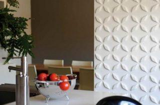 3д панелі в інтер'єрі кухні — що очікувати