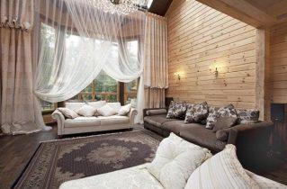 Штори в дерев'яному будинку: ще більше затишку