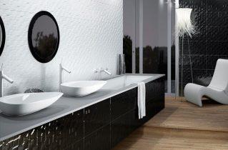 Глянцевая мебель для ванной комнаты — добавьте света и бликов