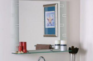 Зеркало с полкой для ванной: все, что нужно, под рукой