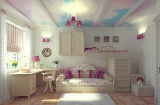 Современные отделочные материалы: оформляем потолок в детской