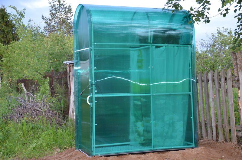 Отапливаемый душ на даче