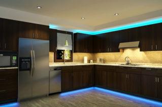 Cветодиодное освещение для кухонь