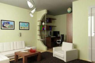 Дизайн інтер'єру для однокімнатної квартири
