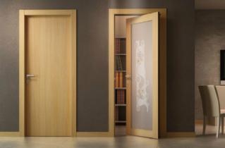 Міжкімнатні двері з шпону