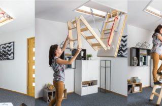 Надійні і практичні сходи для горища