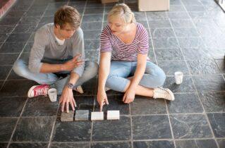 Керамічна плитка в якості підлогового покриття в спальні